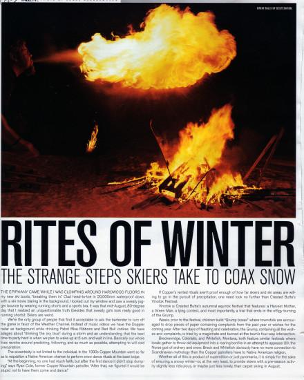 Powder Magazine: Rites of Winter by Ian Fohrman