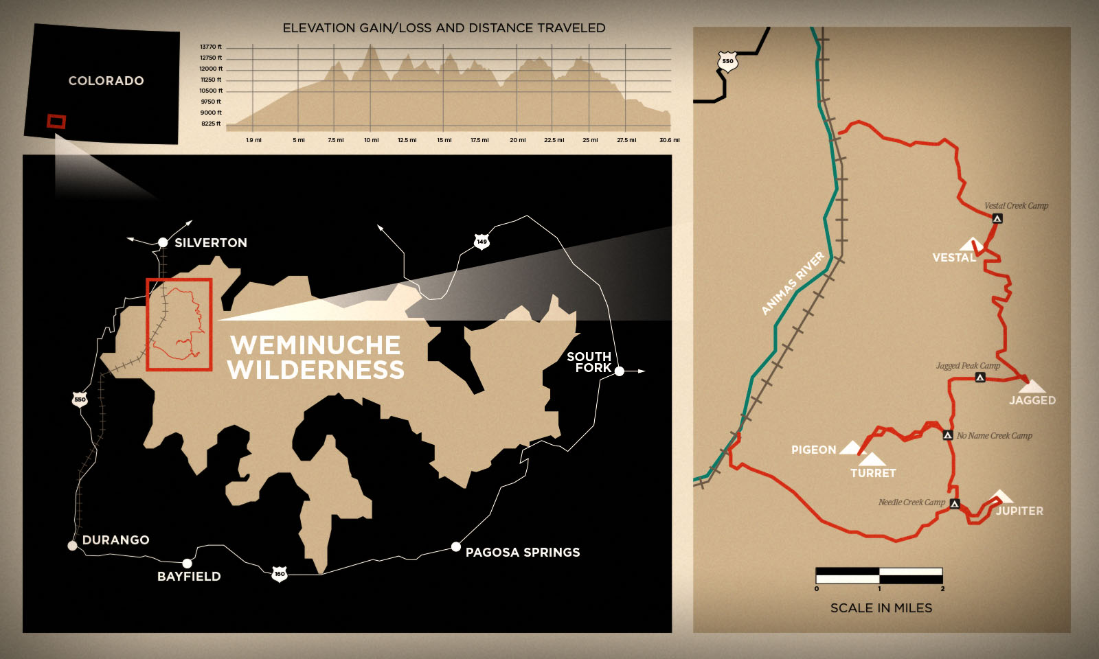 Weminuche Map